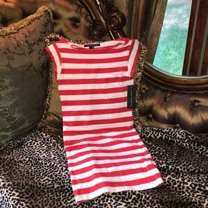 New French Connection Red Striped Sailor Dress